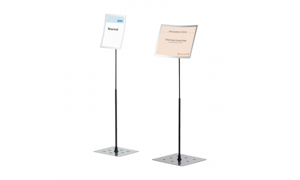 A4 210x297mm Clear Acrylic Sign Display Paper Card Table Label Holder Vertical L Stand With Magnet In Corner 50pcs Fashionable Style; In